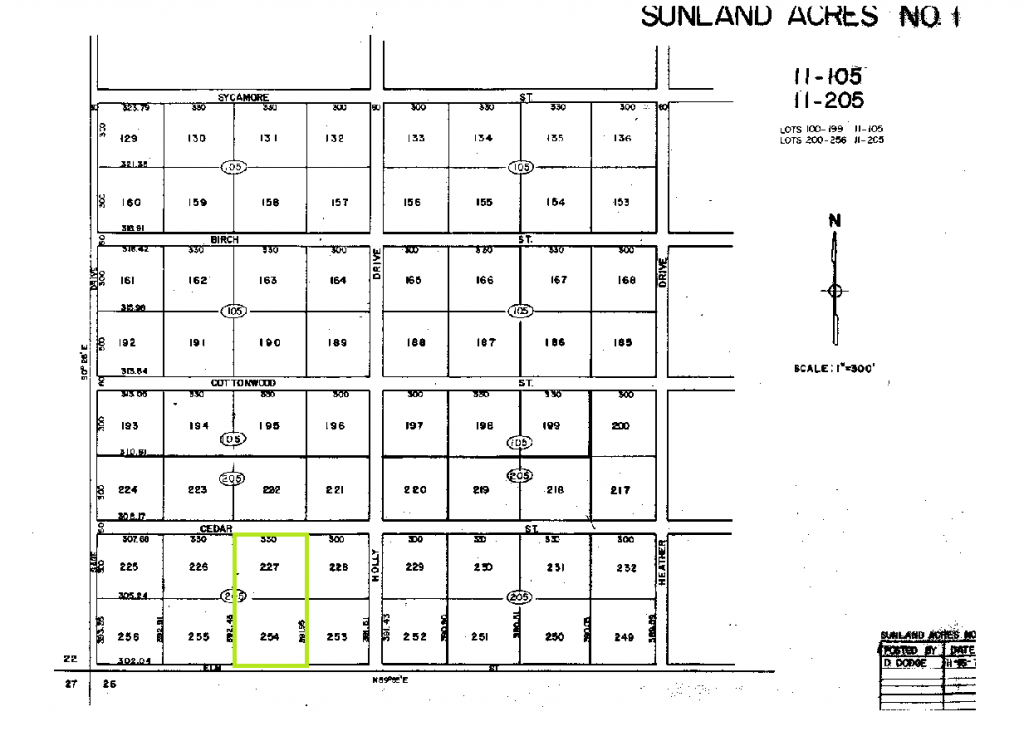 Elko APN 011-205-027 & 011-205-054 Plat Maps