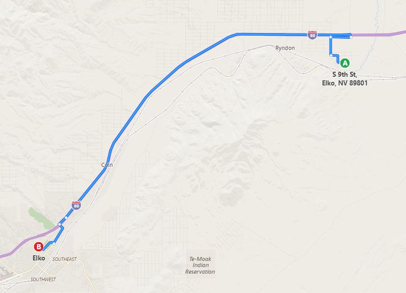 Map to Elko - 026-042-001